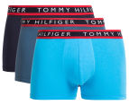 Tommy Hilfiger Men's Cotton Stretch Trunk 3-Pack - Blue Bay 1