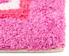 Freckles 90x60cm Pop Cotton Floor Rug - Pink 3
