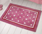 Freckles 90x60cm Pop Cotton Floor Rug - Pink 2