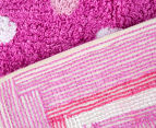 Freckles 90x60cm Pop Cotton Floor Rug - Pink 5