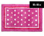 Freckles 90x60cm Pop Cotton Floor Rug - Pink 1