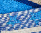 Freckles 90x60cm Marine Cotton Floor Rug - Blue 5