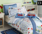 Freckles Trains Double Bed Quilt Cover Set - Multi 1