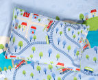 Freckles Trains Single Bed Quilt Cover Set - Multi 4