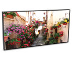 Floral Alley In Italy 50x25cm Framed Wall Art 2