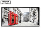London Red Phone Booths 50x25cm Framed Wall Art 1