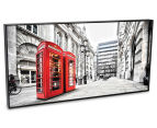 London Red Phone Booths 50x25cm Framed Wall Art 2