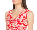 Diana Ferrari Women's Ambrosia Pencil Dress - Antique White/Rouge 3