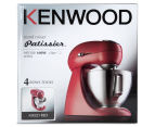 Kenwood MX321 Patissier Stand Mixer - Red 6