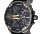Diesel Men's 57mm Mr. Daddy 2.0 Multifunction Leather Strap Watch - Black 3
