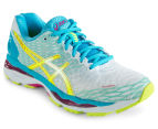 ASICS Women's GEL-Nimbus 18 Shoe - White/Safety Yellow/Aquarium 2