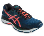 ASICS Women's GEL-Nimbus 18 Shoe - Poseidon/Flash Coral/Black 2