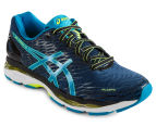 ASICS Men's GEL-Nimbus 18 Shoe - Poseidon/Blue Jewel/Safety Yellow 2