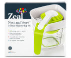 Zeal Nest & Store 9-Piece Measuring Set - Green/White 6