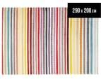 Antares 290x200cm Bohemian Rug - Pastel Stripe 1