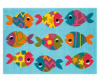 Asiatic Hand Tufted 160x110cm Fish Rug - Blue 2
