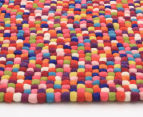 Handcrafted 130x70cm Pure Wool Gumball Rug - Multi 3