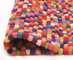 Handcrafted 130x70cm Pure Wool Gumball Rug - Multi 4