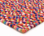 Handcrafted 220x150cm Pure Wool Gumball Rug - Multi 2