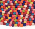 Handcrafted 90x90cm Pure Wool Gumball Rug - Multi 2