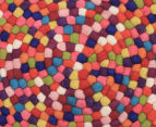 Handcrafted 90x90cm Pure Wool Gumball Rug - Multi 4