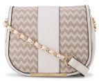 Kardashian Kollection Wave Of Emotion Crossbody Bag - Beige/White 1