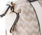 Kardashian Kollection Wave Of Emotion Handbag - Beige/White 5
