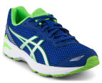 ASICS Grade-School Kids' GT-1000 5 Shoe - Blue/White/Green Gecko 2