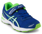 ASICS Pre-School Kids' GT-1000 5 Shoe - Blue/White/Green Gecko 2