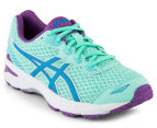 ASICS Grade-School Kids' GT-1000 5 Shoe - Mint/Blue Jewel/Orchid 2