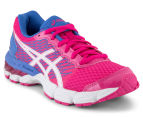 ASICS Grade-School Kids' GEL-Nimbus 18 Shoe - Sport Pink/White/Primrose Purple 2
