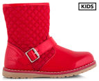 Clarks Kids' Dixie Boot - Red Patent 1