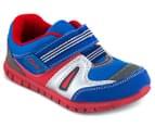 Clarks Kids' Hugo Shoe - Blue/Red 2