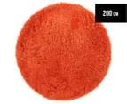 Monroe 200cm Super Soft Microfibre Shag Round Rug - Rust 1