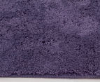 3 x Monroe 80x50cm Super Soft Microfibre Shag Rug - Grape 3
