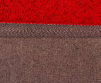 3 x Monroe 80x50cm Super Soft Microfibre Shag Rug - Red 5