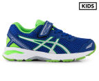 ASICS Pre-School Kids' GT-1000 5 Shoe - Blue/White/Green Gecko 1