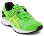 ASICS Pre-School Kids' Galaxy 9 Shoe - Green Gecko/Safety Yellow/Black 2
