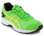 ASICS Grade-School Kids' GEL-Galaxy 9 Shoe - Green Gecko/Safety Yellow/Black 2