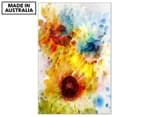 Blur of Flowers 90x59cm Canvas Wall Art 1