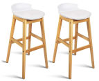 Set of 2 Eames Low Back Bar Stools - White 1