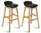 Set of 2 Eames Low Back Bar Stools - Black 1