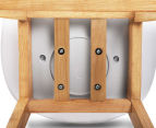 Set of 2 Eames Low Back Bar Stools - White 6