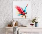 Parrot Landing 70x70cm Oil On Canvas Wall Art 2