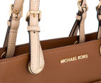 Michael Kors Bedford Pocket Leather Tote - Luggage 5