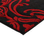 Iconic Modern 290 x 200cm Rug - Black/Red/Cream 4