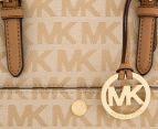 Michael Kors Jet Set Snap Medium Pocket Tote - Beige/Camel/Dark Tan 4