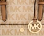 Michael Kors Jet Set Snap Medium Pocket Tote - Beige/Camel/Dark Tan 4