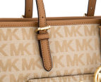 Michael Kors Jet Set Snap Medium Pocket Tote - Beige/Camel/Dark Tan 5