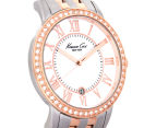 Kenneth Cole Women's 35mm Mother of Pearl Stone Bezel Watch - Rose Gold/Silver 2